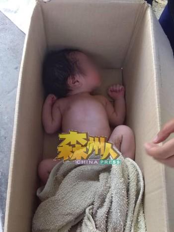 惨遭狠心丢在纸皮里的女婴,被乘客发现时正在酣睡。