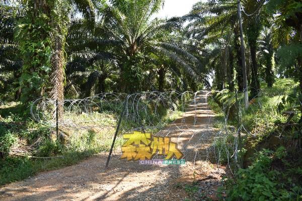 当局在甘榜内9个地点围上铁蒺藜,防止有人自由出入。